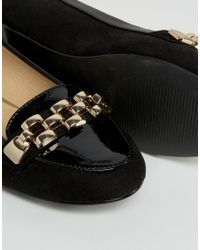 Oasis - Black Chain Loafer - Lyst