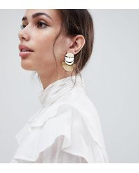 Accessorize - Metallic Gold Layered Crescent Statement Earrings (+) - Lyst