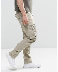 G-Star RAW - Natural Tall Rovic Zip Cargo Pants 3d Tapered for Men - Lyst