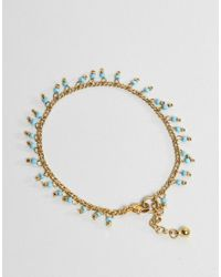 ASOS - Metallic Pack Of 2 Petal Disc And Bead Anklets - Lyst