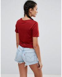 ASOS - Red Crop T-shirt - Lyst