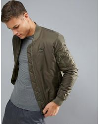 PUMA - Green Vintage Look Padded Bomber Jacket for Men - Lyst