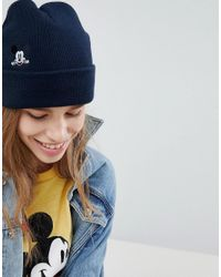 2c444a47 Levi's Levi's Mickey Mouse Embroidery Beanie in Black - Lyst