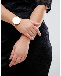 ASOS - Metallic Sleek Solid Circle Cuff Bracelet - Lyst