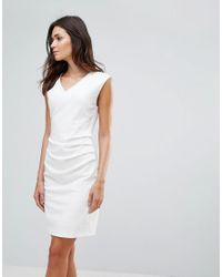 B.Young - White Gather Side Dress - Lyst