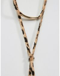 ASOS - Multicolor Animal Print Choker Necklace - Lyst