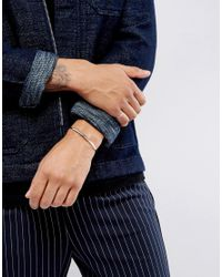 ASOS - Metallic Ditsy Bangle & Ring Pack In Burnished Silver for Men - Lyst