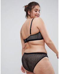ASOS - Black Gianna Diamond Lace Brazilian Pant - Lyst