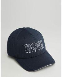 c148cb43 Lyst - BOSS Green By Hugo Boss Logo Baseball Cap in Blue for Men