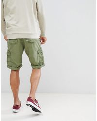 Esprit Relaxed Fit Cargo Shorts In Green for men