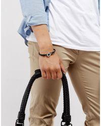 Ted Baker - Carbon Fibre Leather Bracelet In Black for Men - Lyst