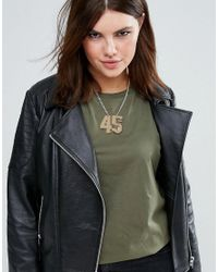 ASOS - Metallic 45 Necklace - Lyst