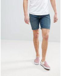 ASOS - Blue Denim Shorts In Skinny Vintage Dark Wash for Men - Lyst