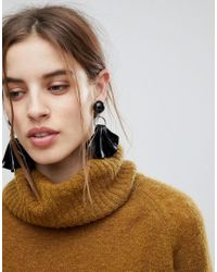 ASOS - Metallic Asos Statement Folded Resin Drop Earrings - Lyst