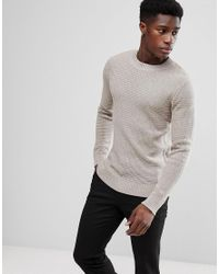 SELECTED - Multicolor Crew Neck Knit for Men - Lyst