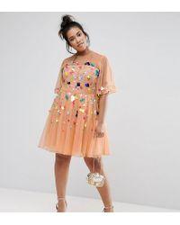 bc9d6c3416d7 ASOS. Women's Mesh Scatter Sequin Mini Dress