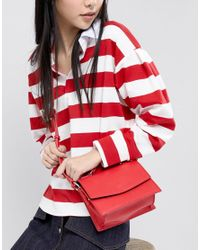 Pieces - Bright Structured Cross Body - Lyst