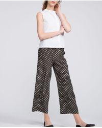 Aspesi - Gray Pure Silk Trousers - Lyst