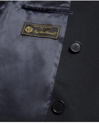 Aspesi | Blue Wool Coat Importante for Men | Lyst