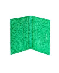 Aspinal - Green Double Fold Credit Card Case - Lyst