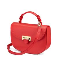 Aspinal - Red The Letterbox Saddle Bag - Lyst