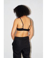 Baserange - Black Cotton Triangle Bra - Lyst