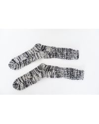 Anonymous Ism | Multicolor Wool Marled Ribbed Socks for Men | Lyst