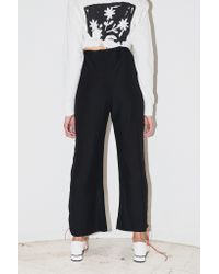 Assembly New York - Black Drawstring Pant With Ties - Lyst