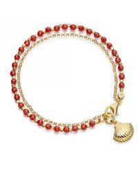 Astley Clarke - Metallic Shell Bracelet Stack - Lyst
