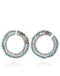 Astley Clarke | Multicolor London Blue Topaz Fao Hoop Earrings | Lyst