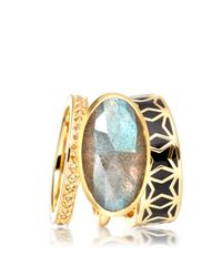 Astley Clarke - Metallic London Nights Star Mosaic Ring - Lyst