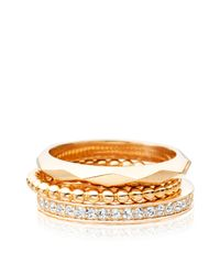 Astley Clarke - Metallic La Vie En Rose Ring Stack - Lyst