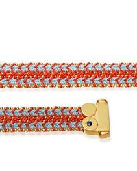 Astley Clarke | Blue Coral Reef Wide Woven Biography Bracelet | Lyst