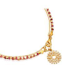 Astley Clarke - Metallic Pink Sapphire Rising Sun Fine Biography Bracelet - Lyst