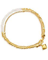 Astley Clarke | Metallic Moonstone Air Element Biography Bracelet | Lyst