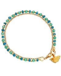 Astley Clarke | Blue Apatite Ginkgo Biography Bracelet | Lyst