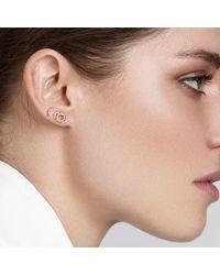 Astley Clarke - Metallic Double Varro Honeycomb Stud Earrings - Lyst