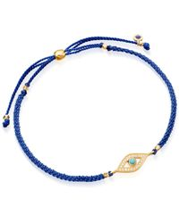 Astley Clarke - Blue Evil Eye Skinny Biography Bracelet - Lyst