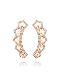 Astley Clarke - Multicolor Honeycomb Diamond Ear Crawler - Lyst