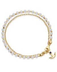 Astley Clarke - Metallic Double Anchor Bracelet Stack - Lyst
