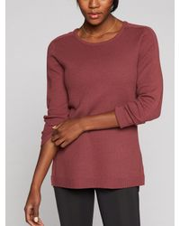 Athleta - Red Thermal Honeycomb Sweater - Lyst