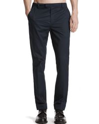 ATM | Blue Cuffed Cotton Poplin Classic Pants for Men | Lyst