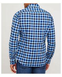 BOSS - Blue Regular Fit Barnei_r Check Shirt for Men - Lyst