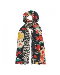 Lily and Lionel - Red Wild Flower Silk Scarf - Lyst