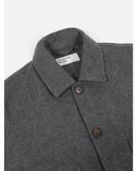 Universal Works - Gray Bakers Jacket In Grey Marl for Men - Lyst