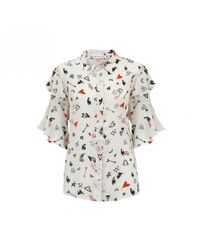 Lily and Lionel - White Doodle Chalk Frankie Shirt - Lyst