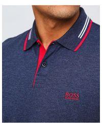 BOSS - Blue Slim Fit Paul Polo Shirt for Men - Lyst