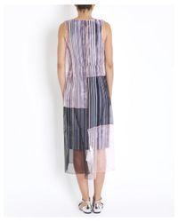 Sportmax - Multicolor Bosso Long Striped Dress In Multicolour - Lyst