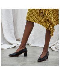 Miista - Bernadette Black Croc Leather Mid-heels - Lyst