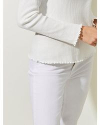 Great Plains - White Rib Top In Milk - Lyst